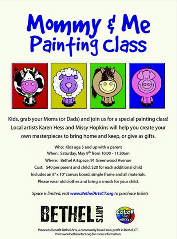Bethel Arts Mommy And Me Painting Class At Artspace Saturday May