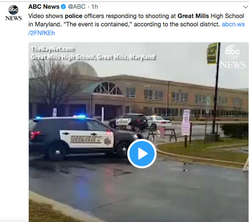 Breaking News: Shooting At Great Mills High School In